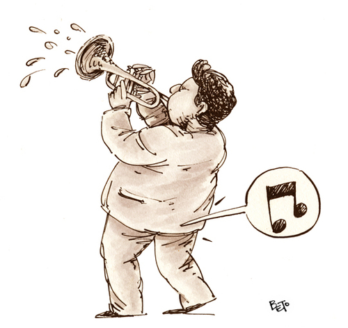 Cartoon: Music (medium) by beto cartuns tagged puff