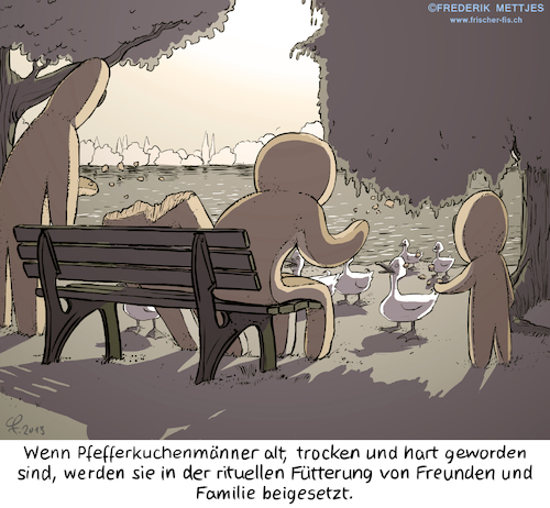 Cartoon: Abschied (medium) by Zapp313 tagged bestattung,beerdigung,abschied,enten,füttern,tod
