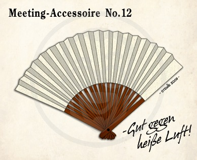 Cartoon: Meeting Accessoire No.12 (medium) by stewie tagged air,hot,accessoir,meeting,fan