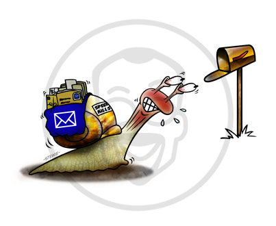 Cartoon: Snail Mail (medium) by stewie tagged mail,snail