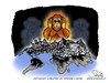 Cartoon: 2016 - Chinese zodiac Fire Monke (small) by stewie tagged 2016,monkey,fire