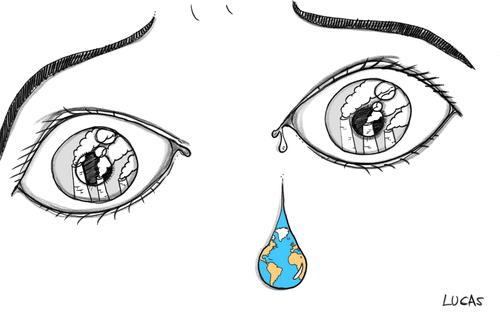 Cartoon Pictures Of The Earth. Cartoon: earth tear (medium)