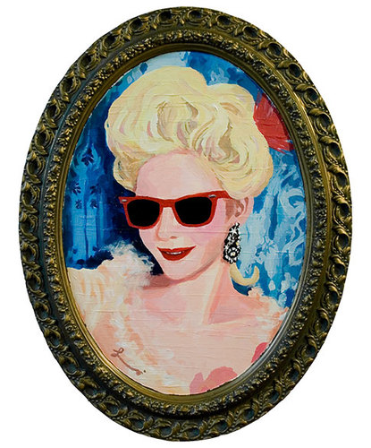 Cartoon: Marie Antoinette (medium) by lavi tagged marie,antoinette,french,france,sunglasses,portrait,queen,royalty,royal,monarchy,people,woman,person,famous,history