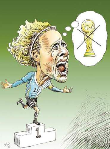 Cartoon: Forlan with no cup! (medium) by javad alizadeh tagged forlan,best,player,of,world,cup,2010