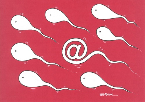 Cartoon: Electronic Sperm (medium) by ercan baysal tagged laptop,internet,web,comminication,turkiye,turkey,illustration,cartoon,ercanbaysal,media,computer,handmade,artwork,key,mixed,paint,fantasy,tattoo,image,picture,vision,fine,good,facebook,twitter,digital,draw,erotik,erotic,seed,semen,sperm