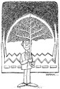 Cartoon: Umbrella and tree (small) by ercan baysal tagged umbrella,parasol,treee,factory,dirtiness,image,good,job,art,fine,vision,tag,favorite,symbol,fantasy,study,sketch,daydream,draw,picture,master,industry,line,ink,logo,tattoo,black,white,ercanbaysal,turkey,turkiye
