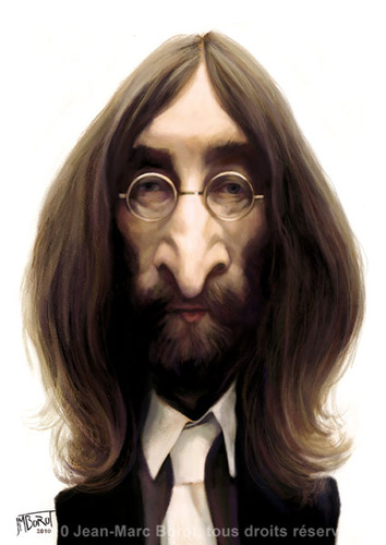 Cartoon: John Lennon (medium) by jmborot tagged jmborot,caricature,lennon,beatles