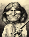 Cartoon: Geronimo (small) by jmborot tagged geronimo apache indians caricature jmborot