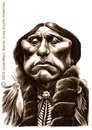 Cartoon: Quanah Parker (small) by jmborot tagged quanah parker indiens caricatures jmborot