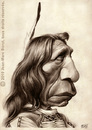 Cartoon: Red Cloud (small) by jmborot tagged red cloud sioux indians caricature jmborot