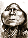 Cartoon: Satanta (small) by jmborot tagged satanta caricature native american jmborot