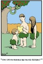 Cartoon: The very first day of school (small) by Tim Akin Ink tagged funny,humorous,cartoon,biblical