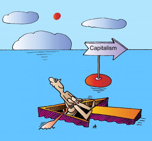 Cartoon: Capitalism (medium) by Alexei Talimonov tagged capitalism,financial,crisis,recession