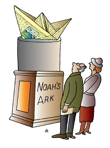 Cartoon: Noahs Ark (medium) by Alexei Talimonov tagged noah,ark