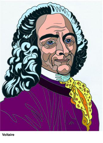 Cartoon: Voltaire (medium) by Alexei Talimonov tagged voltaire
