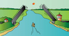 Cartoon: Bridge (small) by Alexei Talimonov tagged bridge