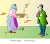 Cartoon: Fresh Eggs (small) by Alexei Talimonov tagged eggs