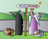 Cartoon: Hell and Paradise (small) by Alexei Talimonov tagged hell,paradise