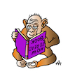 Cartoon: How to read a book (small) by Alexei Talimonov tagged books,literature