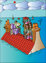 Cartoon: On the Roof (small) by Alexei Talimonov tagged books,literature
