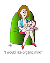 Cartoon: Organic milk (small) by Alexei Talimonov tagged mother,baby