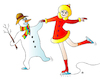Cartoon: Snowman and girl (small) by Alexei Talimonov tagged snowman,winter