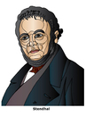 Cartoon: Stendhal (small) by Alexei Talimonov tagged stendhal