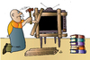 Cartoon: TV Man and Book (small) by Alexei Talimonov tagged man book tv
