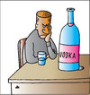 Cartoon: Vodka (small) by Alexei Talimonov tagged vodka,alcohol,drinking