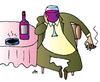 Cartoon: Wine (small) by Alexei Talimonov tagged wine drinking alcohol