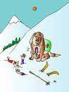 Cartoon: Winter (small) by Alexei Talimonov tagged winter,snow,mobile,dog