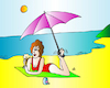 Cartoon: Woman on Beach (small) by Alexei Talimonov tagged beach