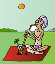 Cartoon: Yoga (small) by Alexei Talimonov tagged yoga