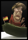 Cartoon: Angela Merkel (small) by GRamirez tagged angela,merkel,cucumbers,pepinos,spanish