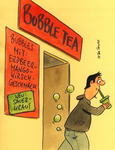 Cartoon: bubble tea (medium) by Peter Thulke tagged bubble,tea,bubble,tea