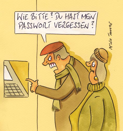 Cartoon: passwort (medium) by Peter Thulke tagged passwort,passwort
