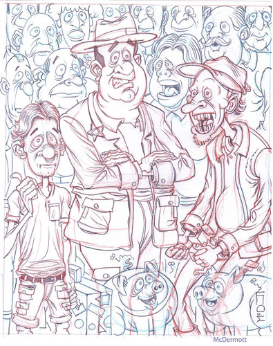 Cartoon: Crowd Sketch (medium) by Cartoons and Illustrations by Jim McDermott tagged sketchbook,people,crowd