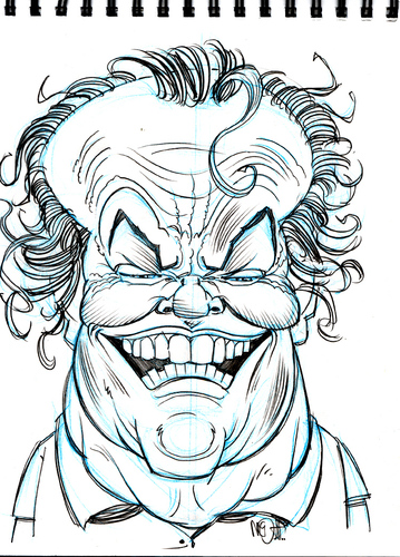 Cartoon: Jack Nicholson (medium) by Cartoons and Illustrations by Jim McDermott tagged jacknicholson,caricatures