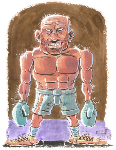 Cartoon: The Boxer (medium) by Cartoons and Illustrations by Jim McDermott tagged boxing,sports