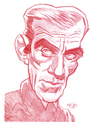 Cartoon: Boris Karloff (small) by Cartoons and Illustrations by Jim McDermott tagged boriskarloff,monster,scary,fantasy,caricature