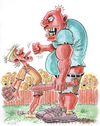 Cartoon: Bully (small) by Cartoons and Illustrations by Jim McDermott tagged kids,baseball,sports,school