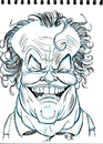 Cartoon: Jack Nicholson (small) by Cartoons and Illustrations by Jim McDermott tagged jacknicholson caricatures