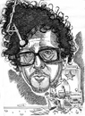 Cartoon: Tim Burton (small) by Cartoons and Illustrations by Jim McDermott tagged caricature,movies,linedrawing,frankenweenie,timburton,fantasy