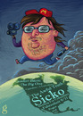 Cartoon: Michael Moore (small) by gilderic tagged caricature,portrait,gilderic,michael,moore,usa,film,documentary,movie,artist,cinema