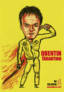 Cartoon: Quentin Tarantino (small) by gilderic tagged caricature illustration quentin tarantino filmmaker film cinema movie parodyilm director