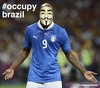 Cartoon: Occupy Brazil - Balotelli (small) by Political Comics tagged football,fifa,brazil,worldcup,2014,brasil,occupybrazil