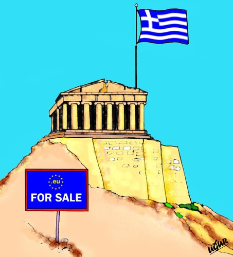 Cartoon: GREECE CRISIS (medium) by ugur demir tagged mmm