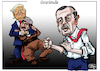 Cartoon: Gratitude (small) by jean gouders cartoons tagged trump,erdogan,syria,kurds