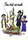 Cartoon: Thou shalt no insult (small) by jean gouders cartoons tagged religion,cartoon,insult,intollerance,jean,gouders