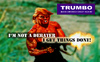 Cartoon: TRUMBO - terminator of democracy (small) by Alf Miron tagged donald,trump,trumbo,usa,president,election,rambo,republicans,republican,party,candidate,2016,america